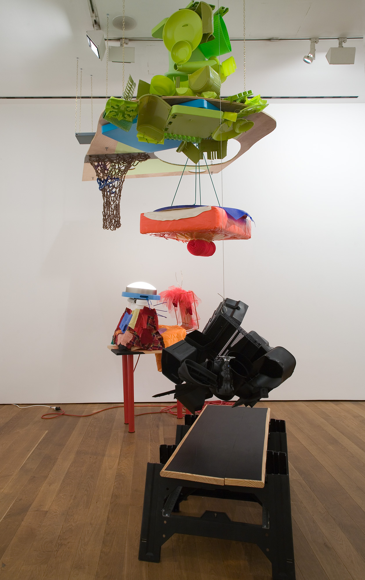Jessica Stockholder (2010) - Air Padded Table Haunches and…